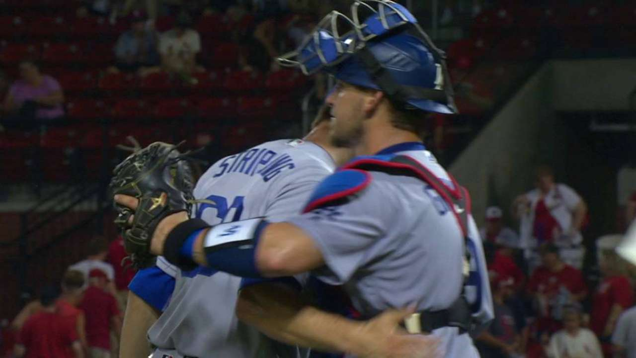 Stripling provides scoreless relief in return to Dodgers