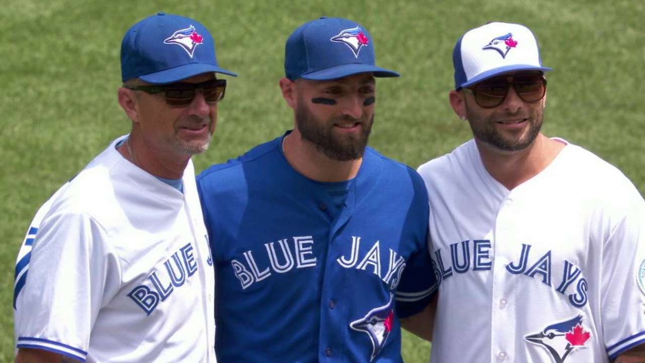 Pillar family throws first pitch