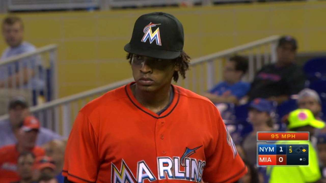Marlins can't back Urena, blanked by Mets
