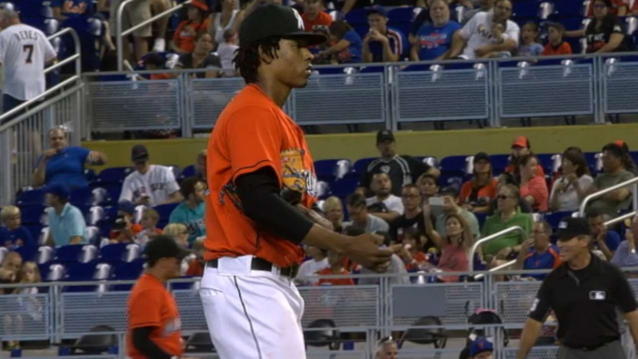 Urena gaining Marlins' trust with another solid start