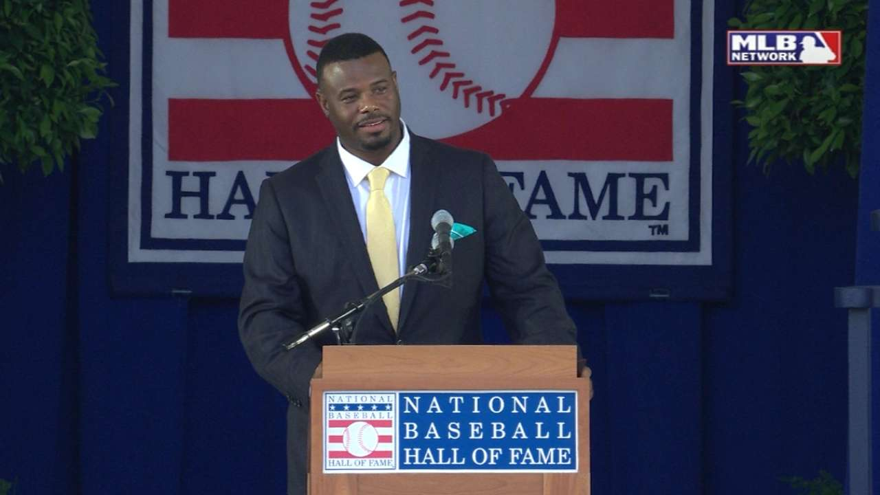 Griffey Jr.'s opening remarks