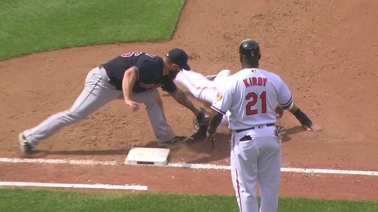 Perez picks off Machado