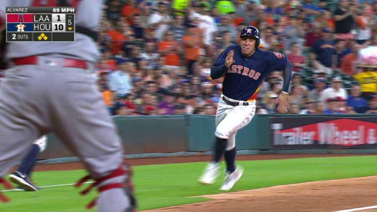 Altuve homers twice as Astros sweep Angels