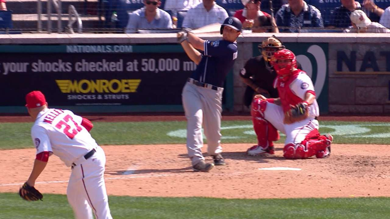 Padres tie game with two homers
