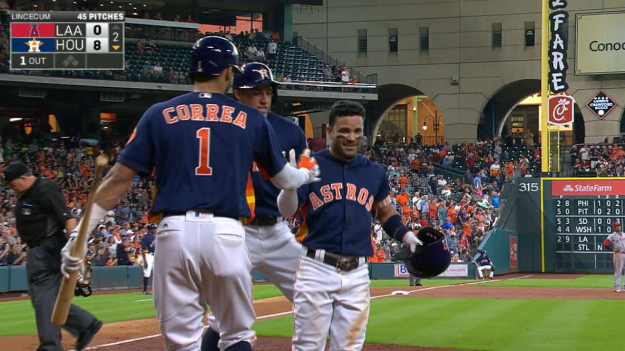 Big shoes to fill: Altuve pays tribute to Junior