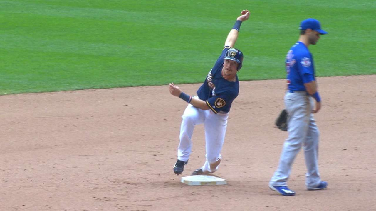 Brewers steal six bases