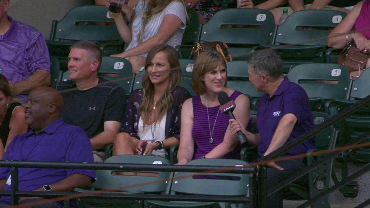 Dahl's family on his MLB debut