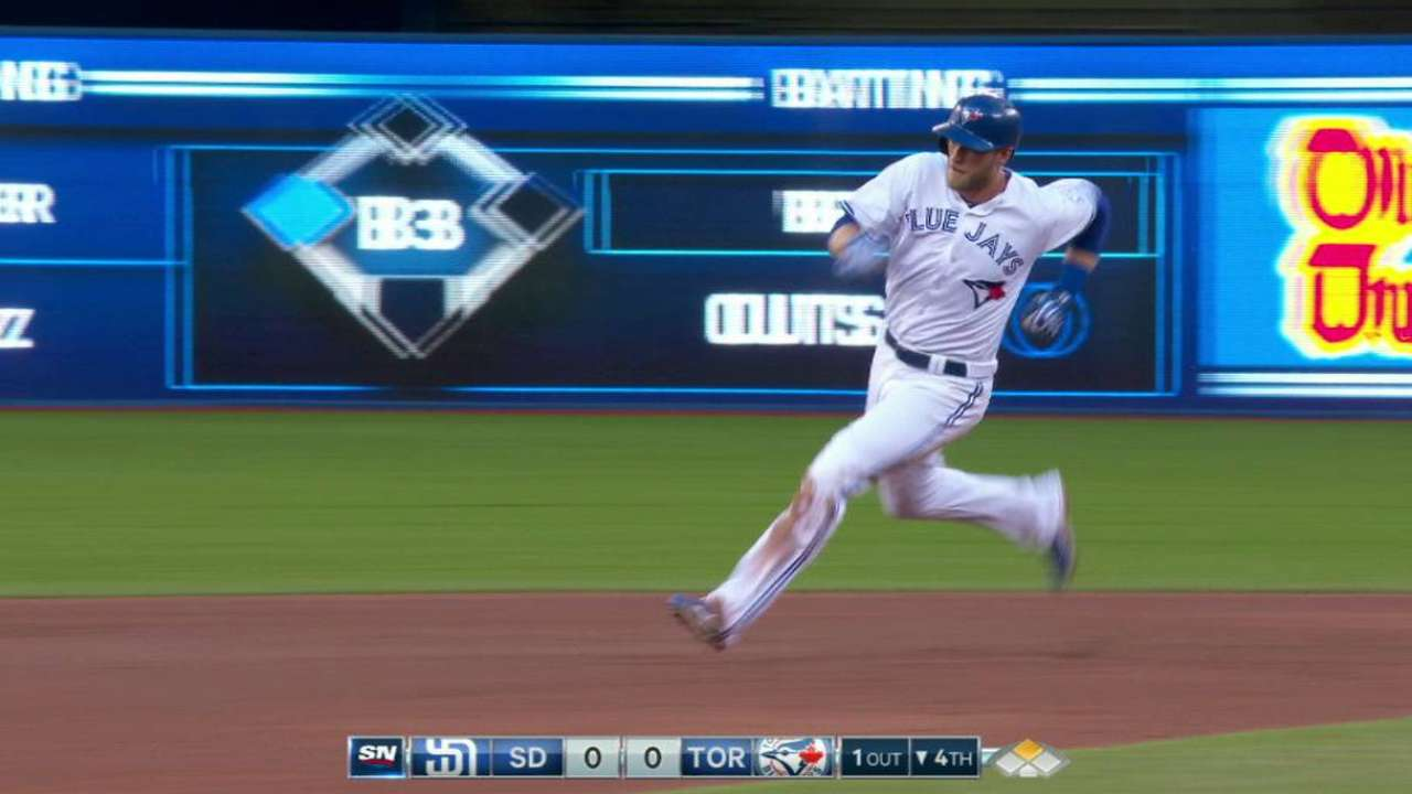 Saunders triples into the gap