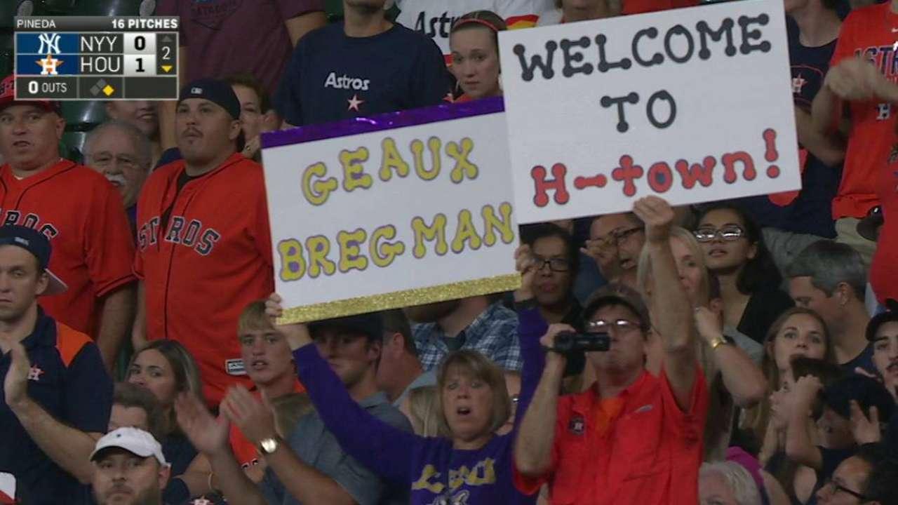 Bregman's standing ovation