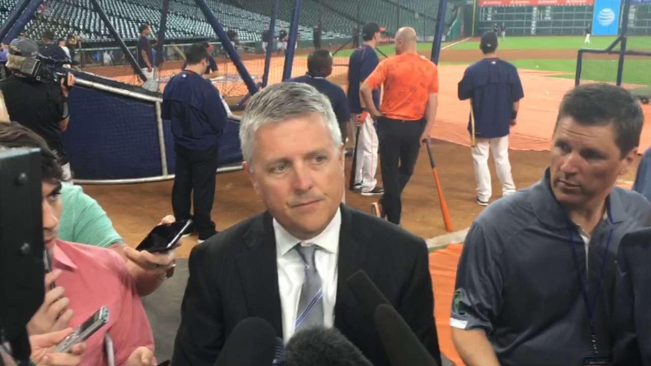 Luhnow, Astros discuss Bregman's callup