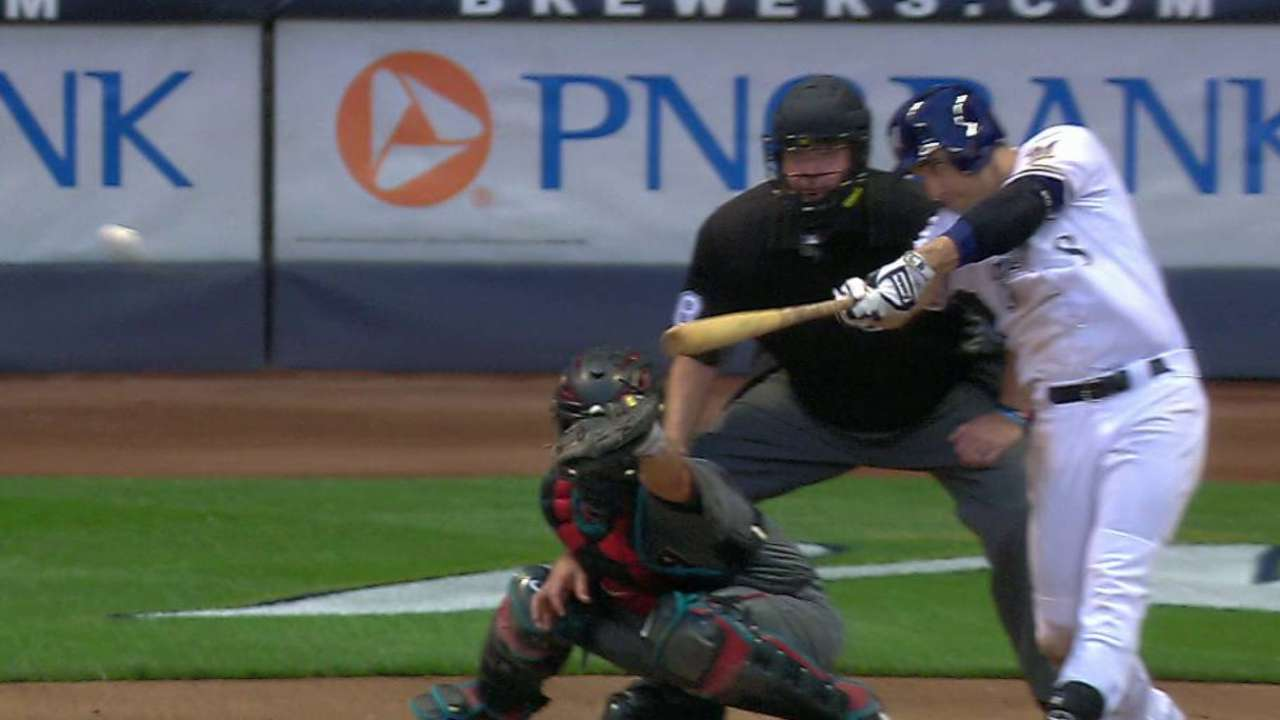 Braun's RBI single to right
