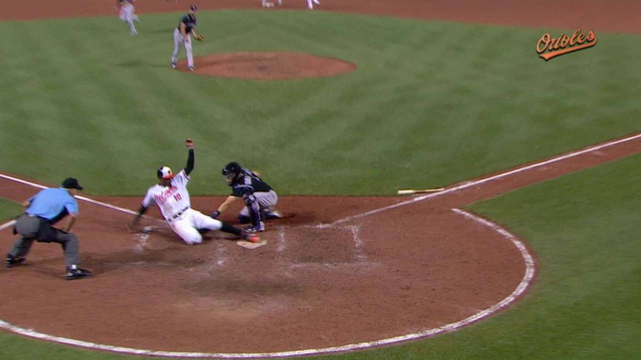 O's slide by Rox for 2nd straight walk-off win
