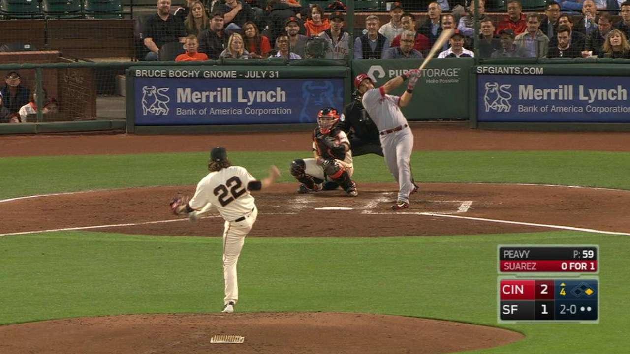 Suarez's two-run homer