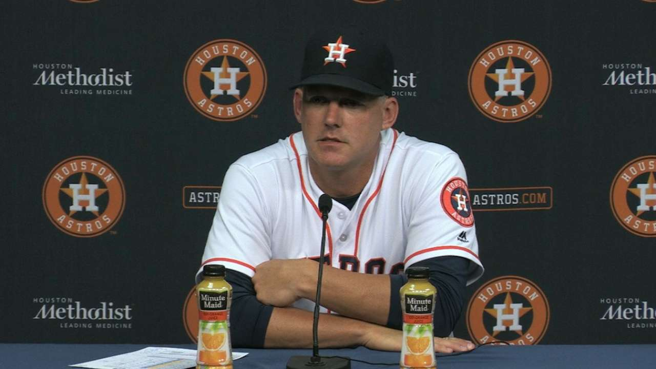 Hinch on the Astros' 2-1 loss