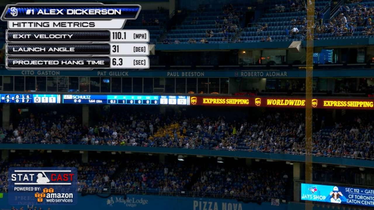 Dickerson's blast puts SD's HR streak at 23