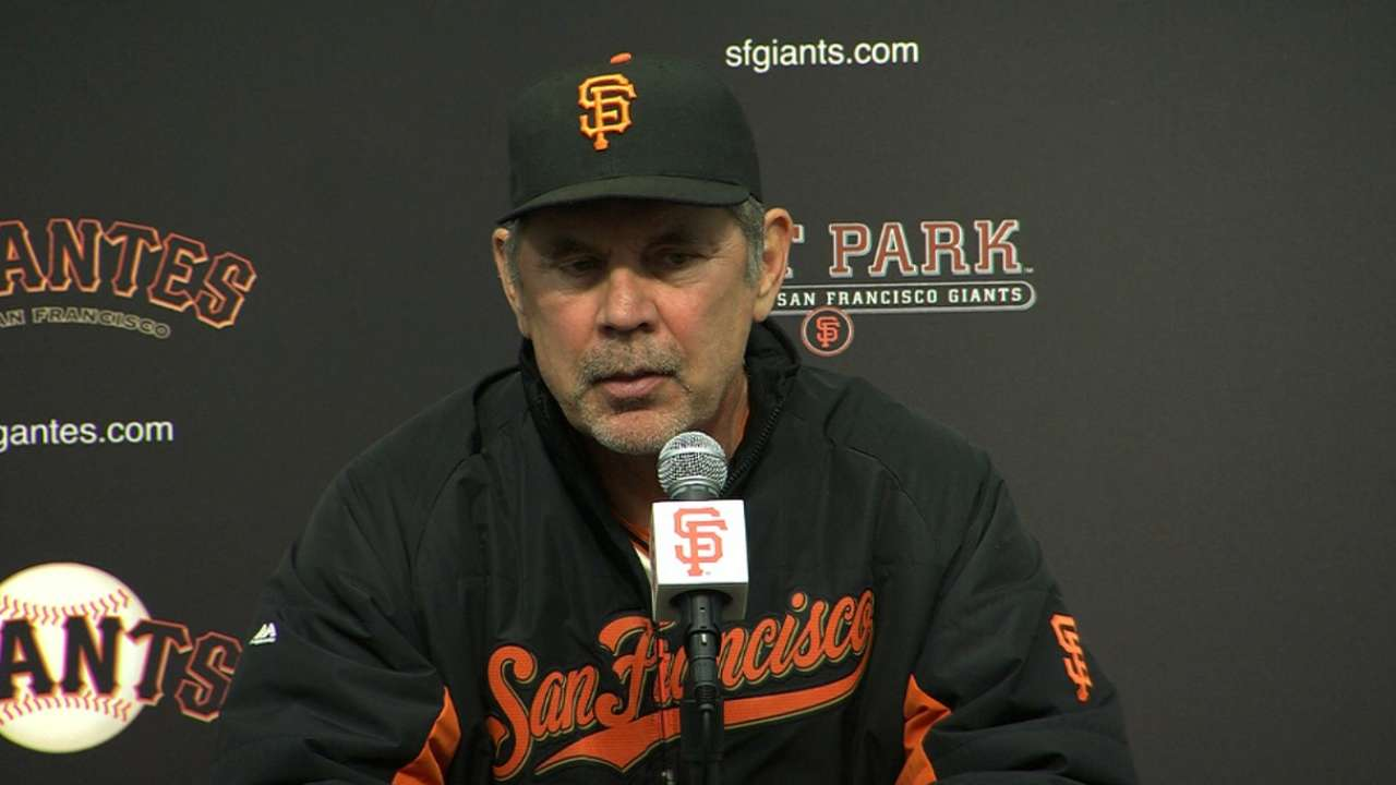Bochy on loss to Reds