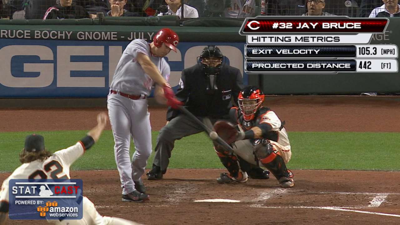 Statcast: Bruce's towering homer