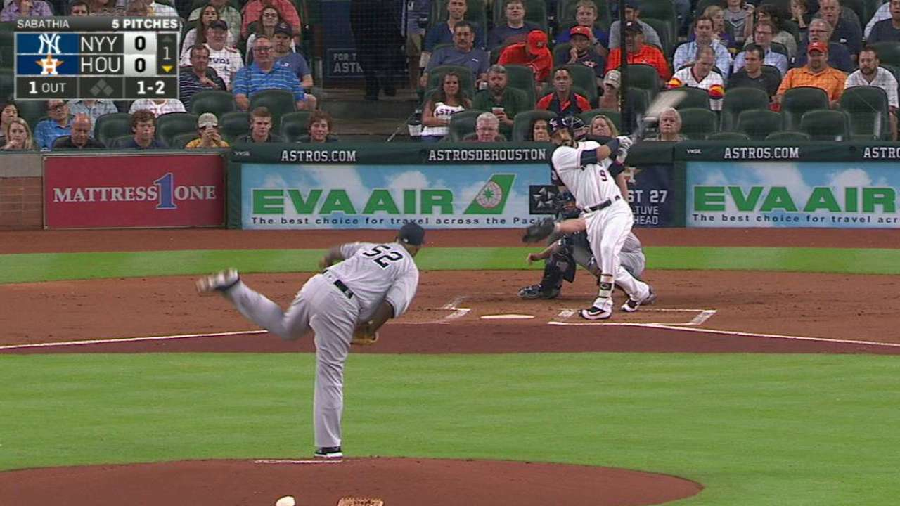 Gonzalez's hand injury leaves Astros short-handed