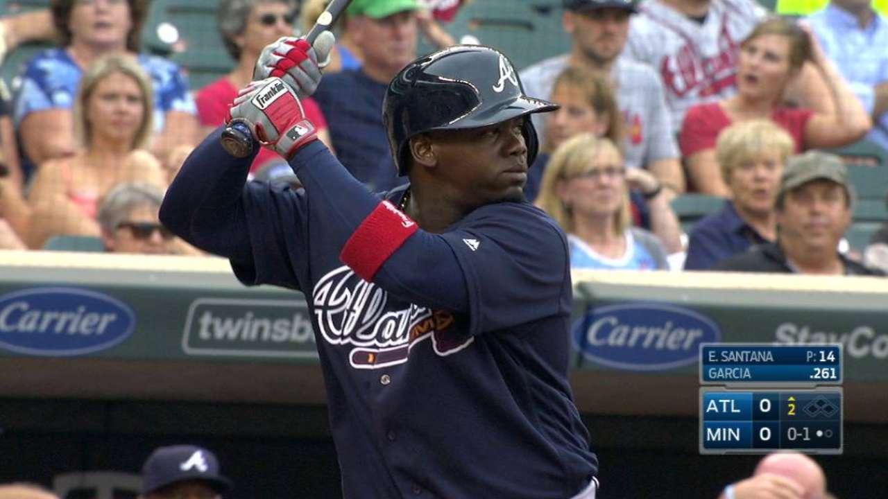 Harrell, Braves blank Twins; Garcia goes yard
