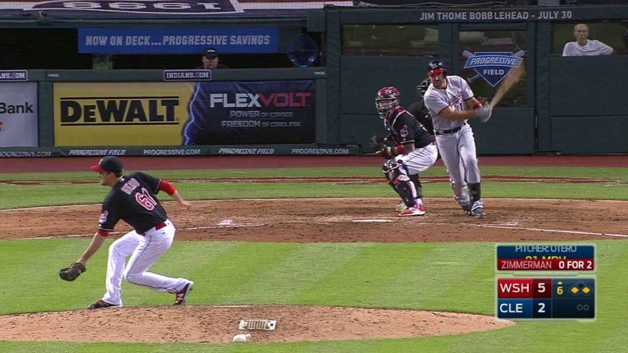 Otero's quick double play