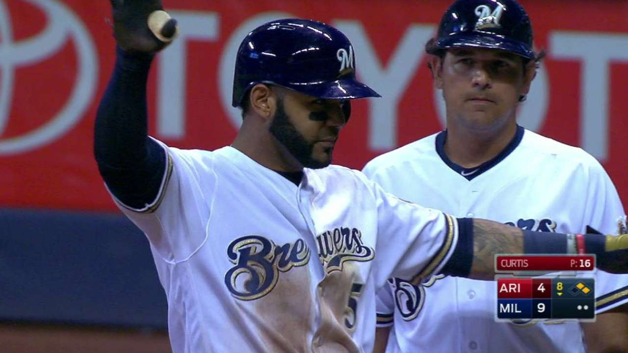 Villar's two-run single
