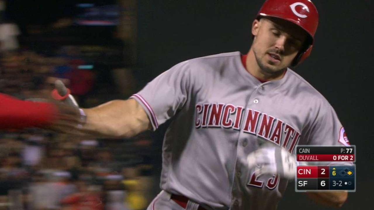 Duvall's two-run home run