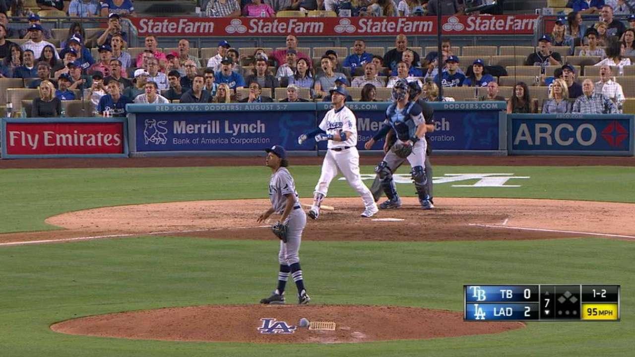 HR de Grandal fue clave en la victoria de los Dodgers