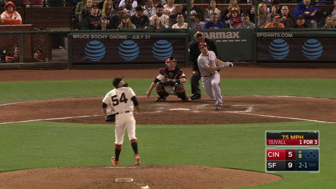 Duvall's swing in fine form with two homers