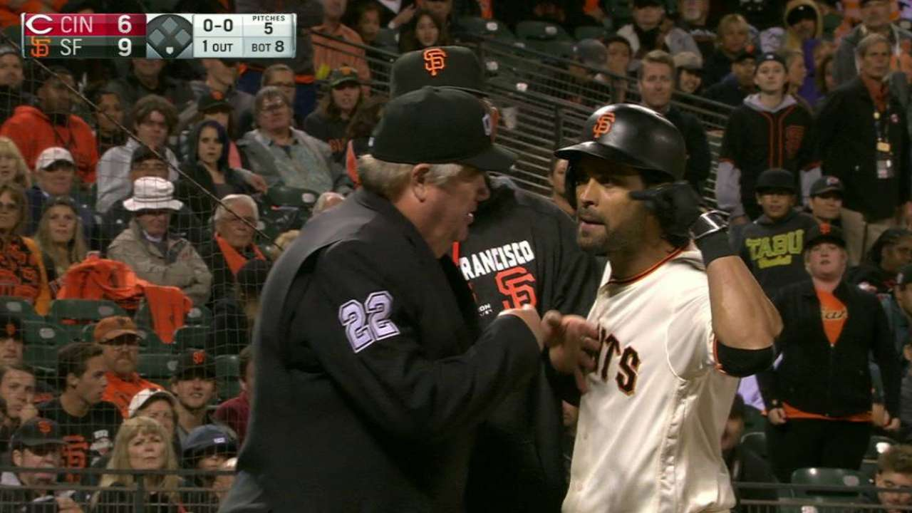 Pagan ejected in the 8th