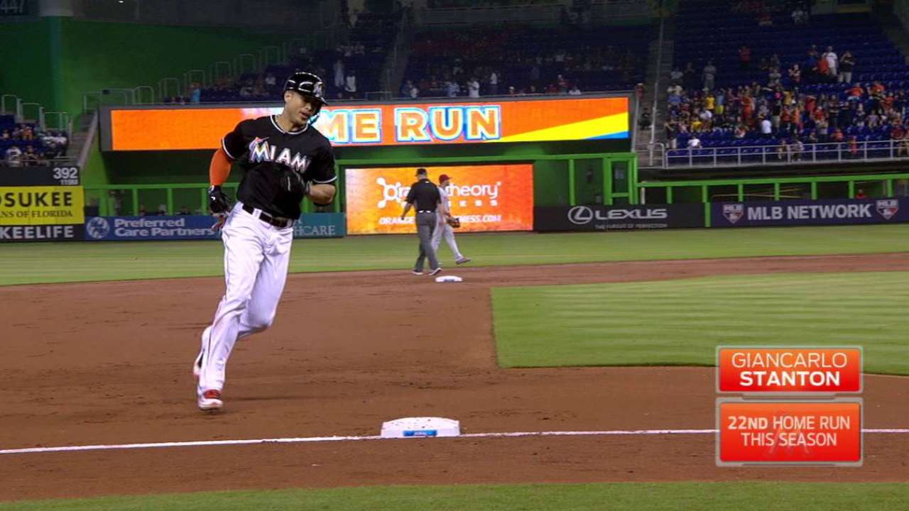 Stanton's two-run homer