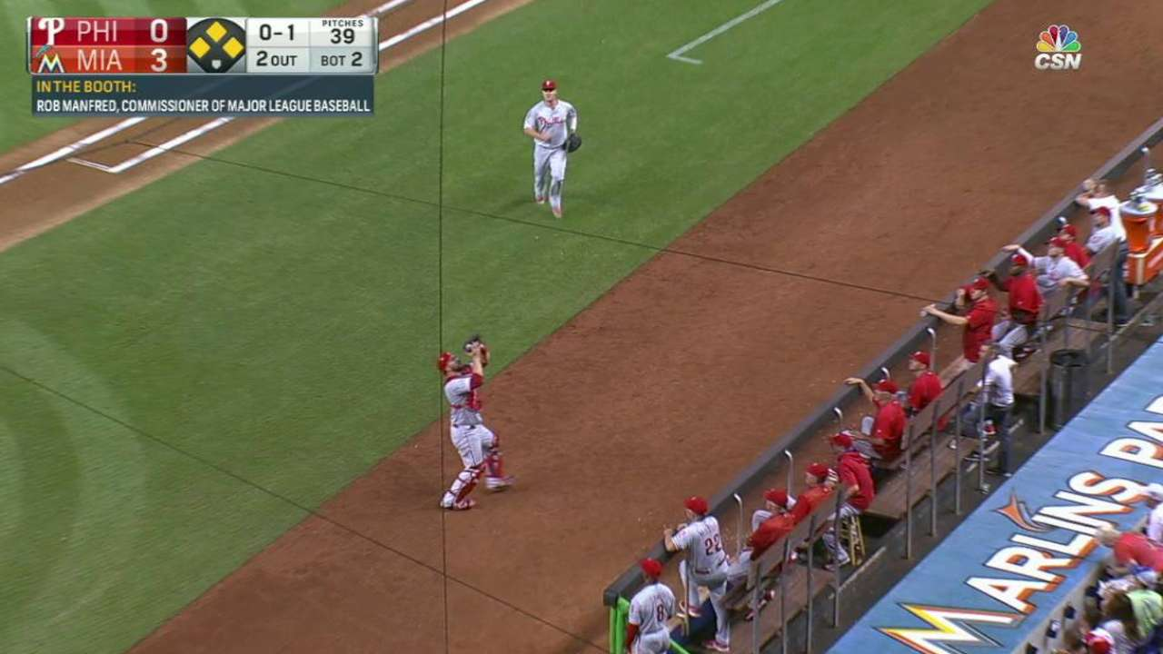 Eflin gets out of a jam