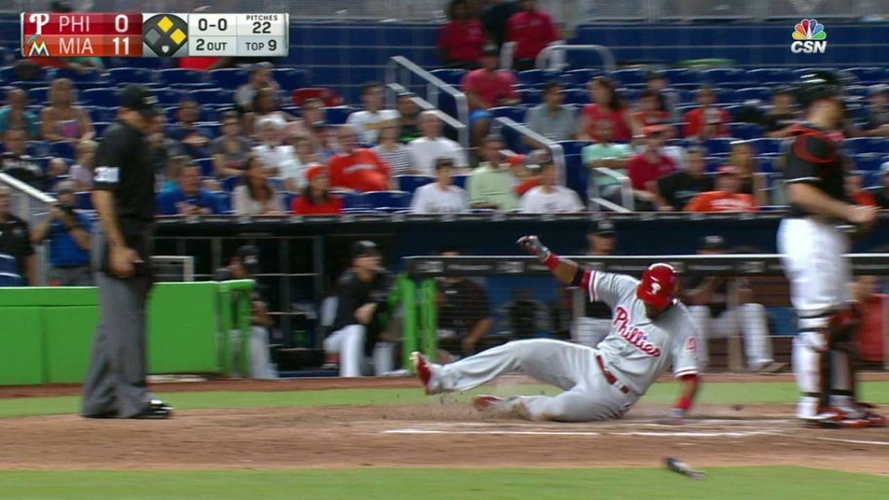 Phillies have rough finale against Marlins