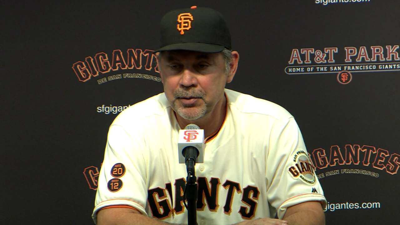 Bochy on 2-1 loss to Reds