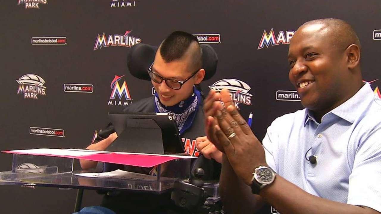 Marlins fulfill Make-A-Wish Foundation dream