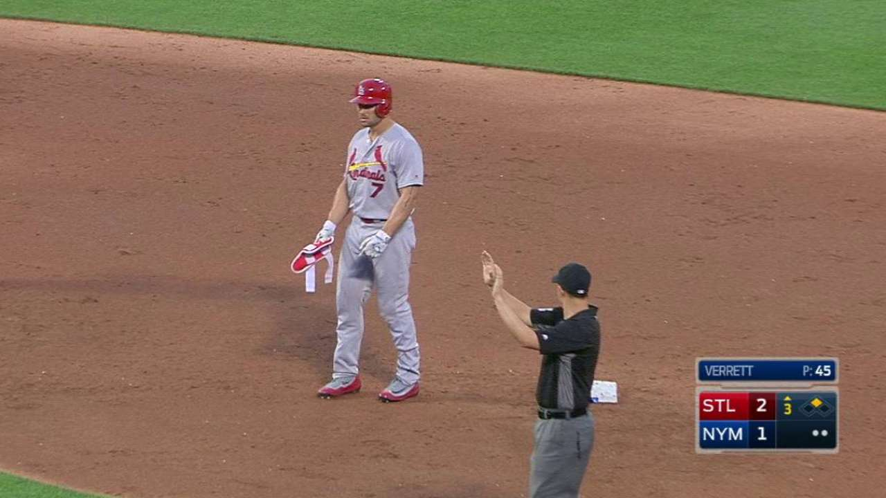 Holliday's two-run double