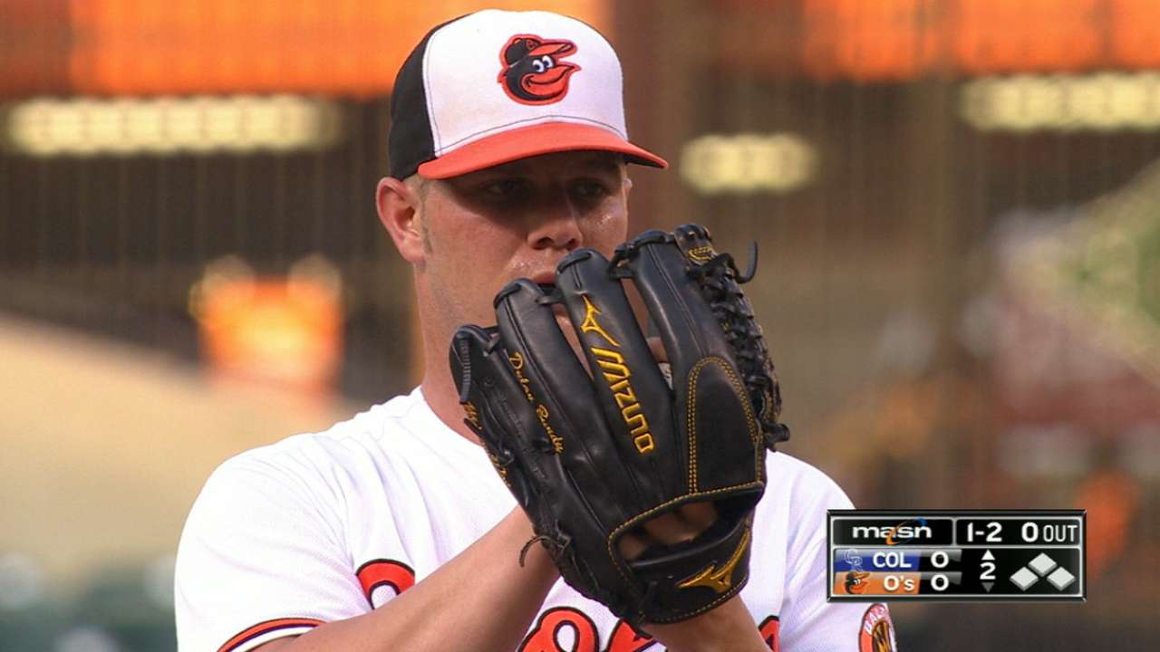 Bundy takes perfect game into 6th inning