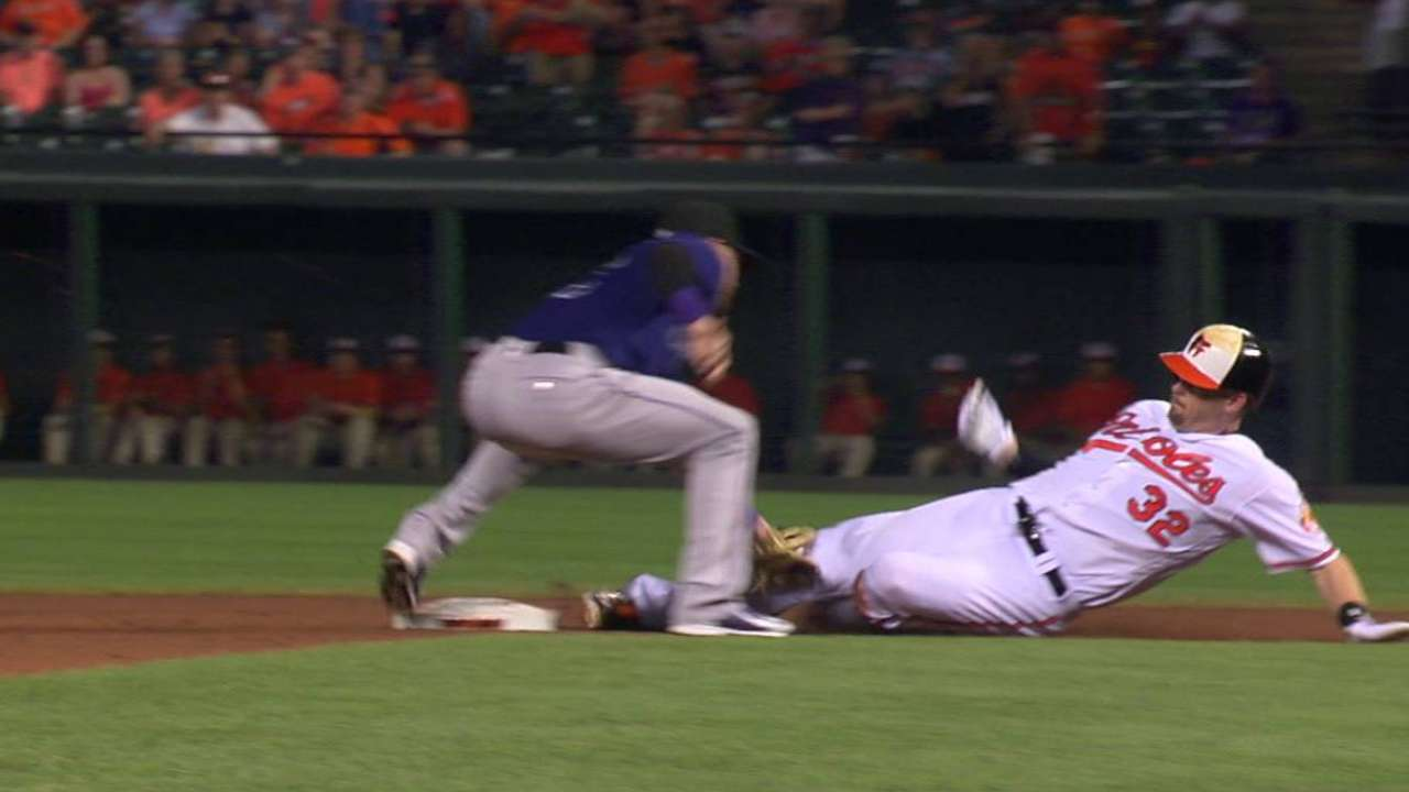 Rockies challenge call at second