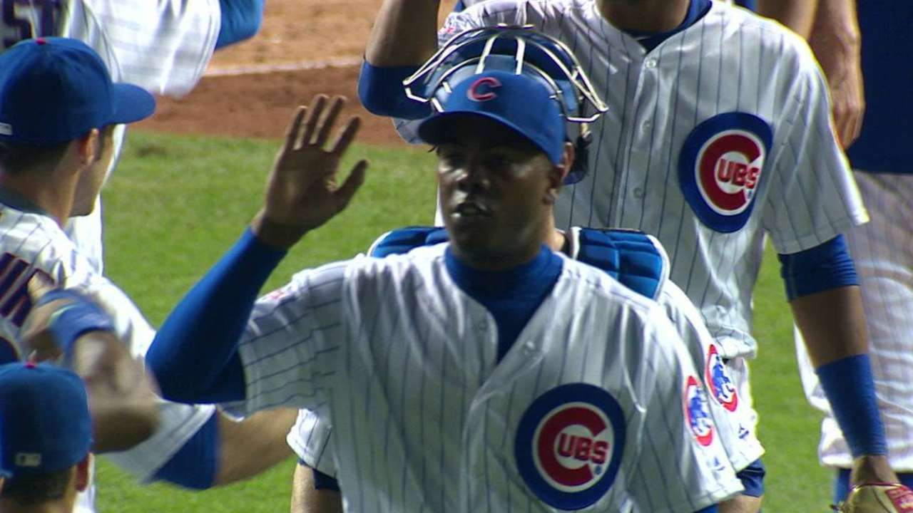 Chapman's perfect Cubs debut