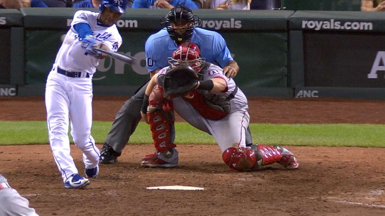 Mondesi's first career hit helps KC halt Halos
