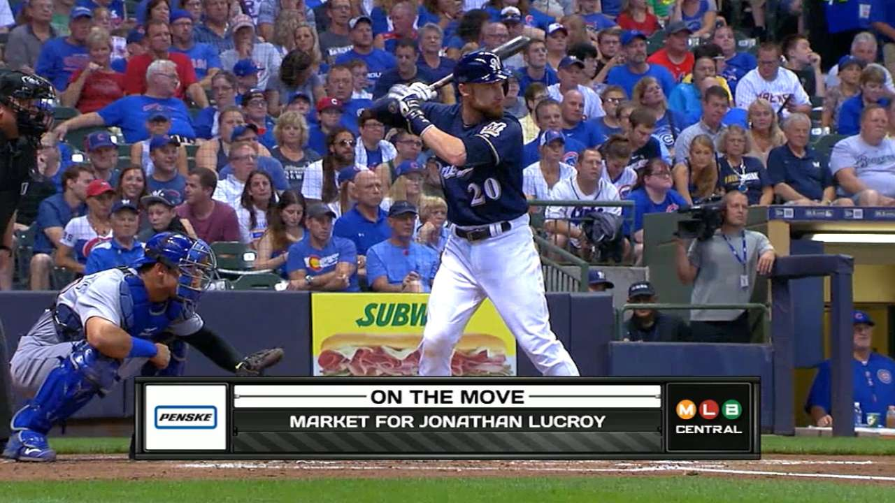 Market for Lucroy's services picking up steam