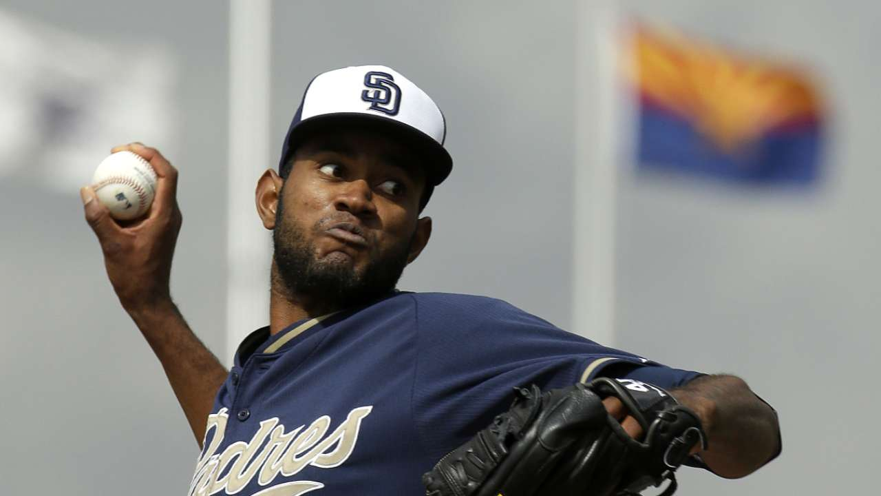 Shorthanded Padres add big arm in Guerrero