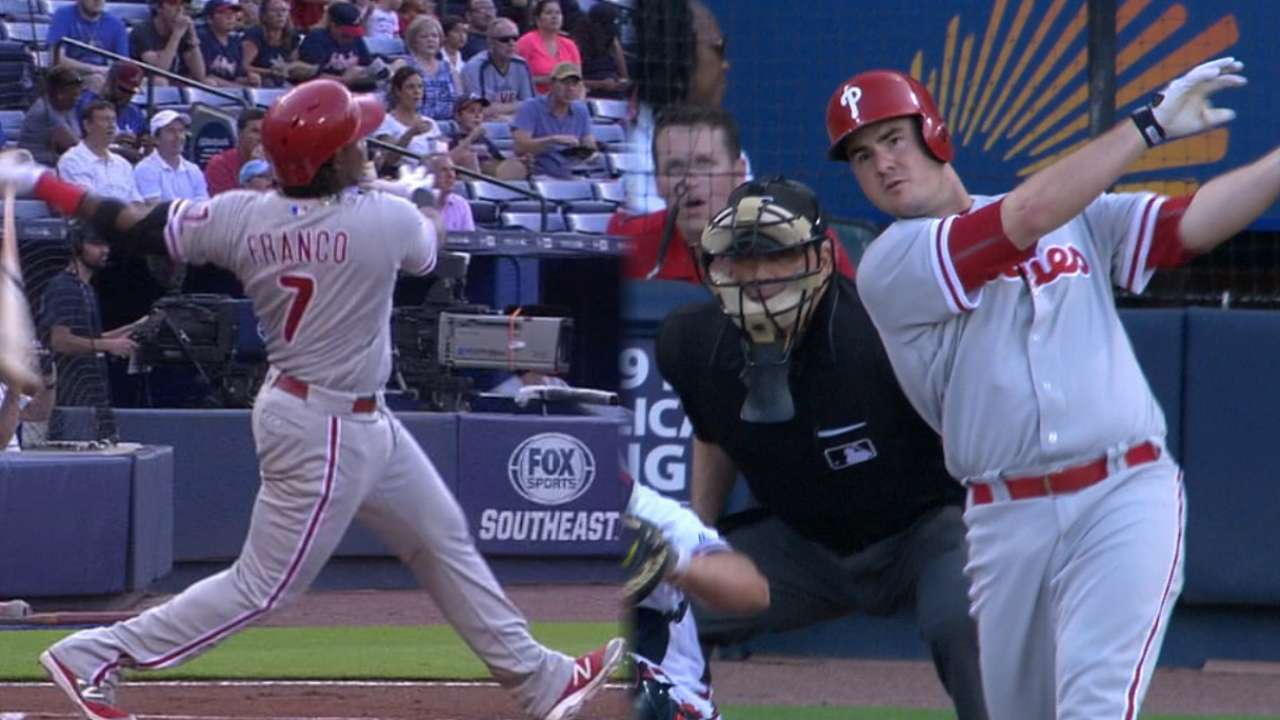 Phillies break out with 3 HRs in win over Braves