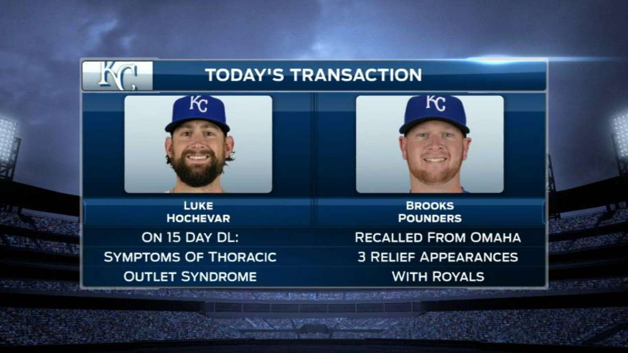 Hochevar shows signs of neurological disorder