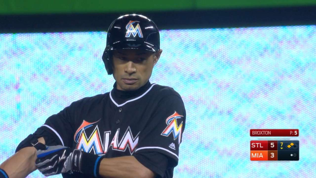 2-9-9-8, Ichiro 3k on this date: 2-night?