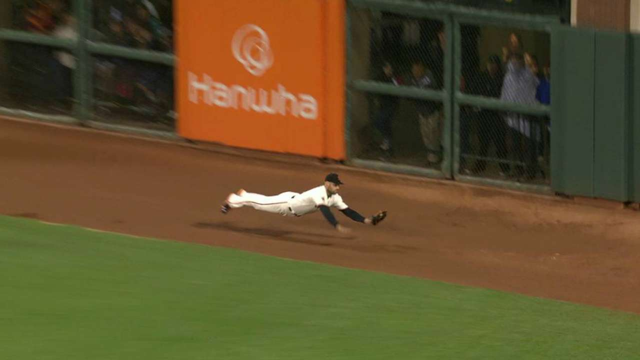 Williamson's diving catch