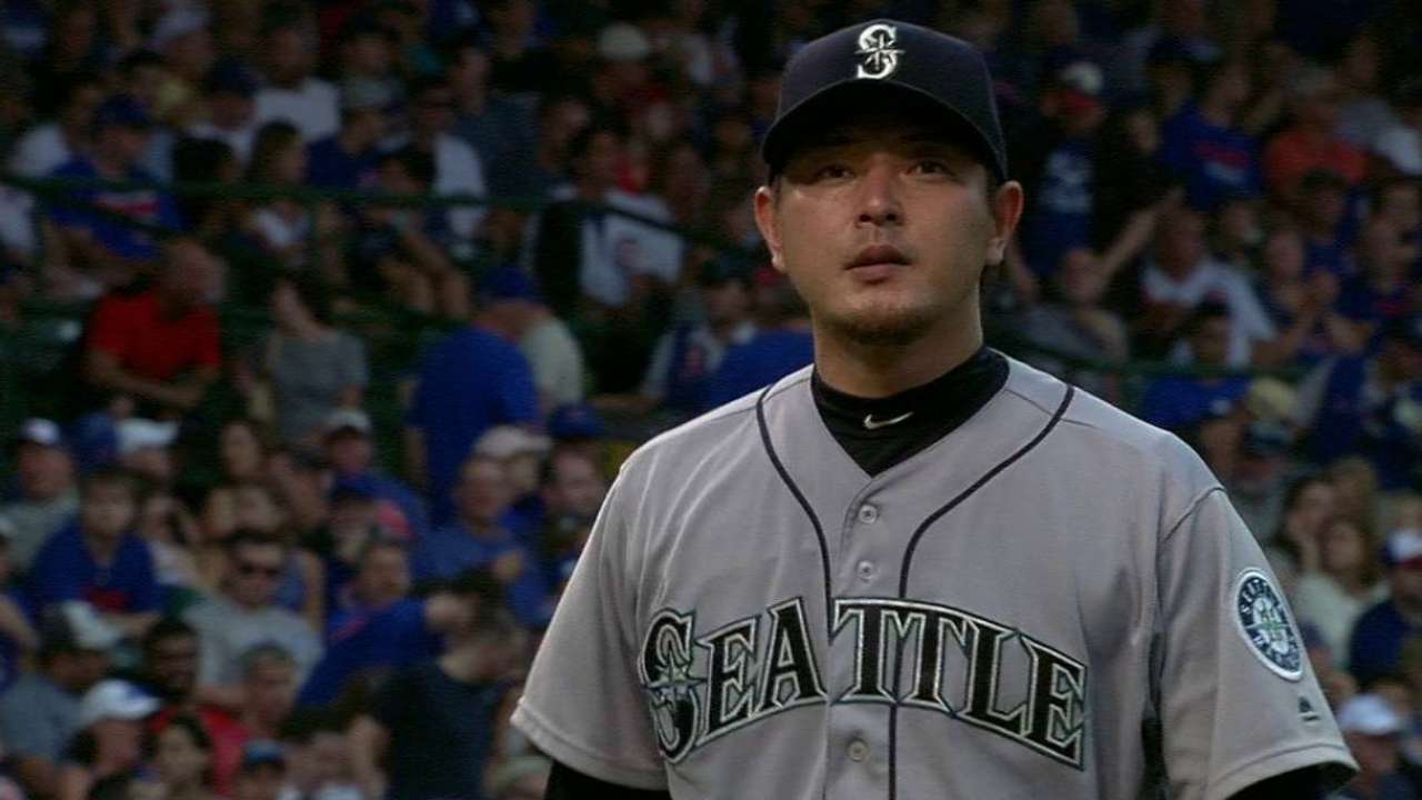 Normally dependable Iwakuma hits bump in road