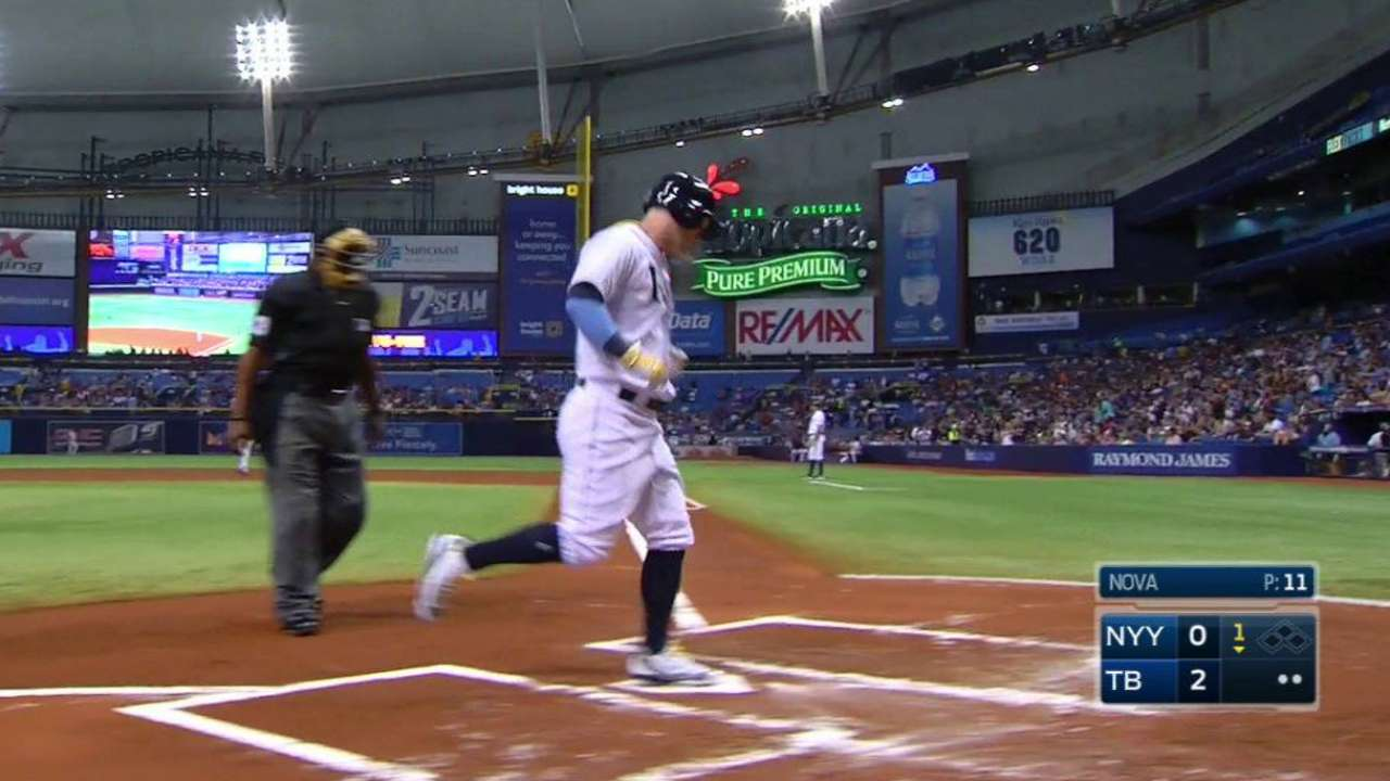 Rays grab early lead, stifle Yanks for victory