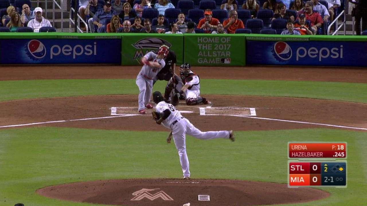 Hazelbaker's two-run homer