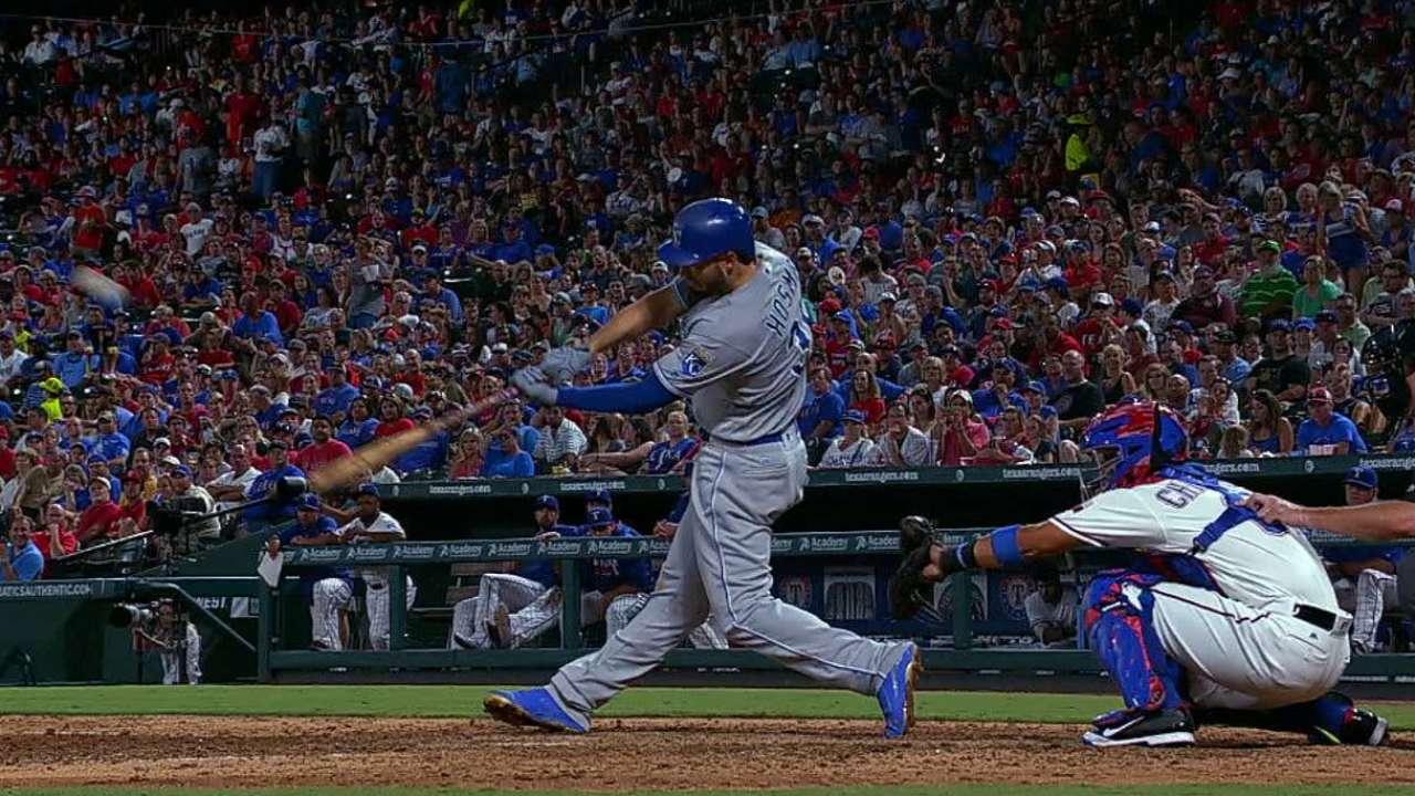 Hosmer's two-run homer to center