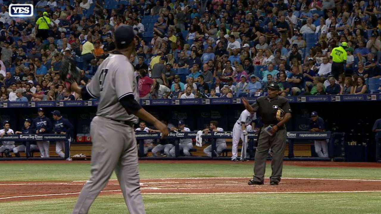 Nova frustrated with ump, himself during loss